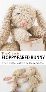 Free Crochet Bunny Pattern Delectable Classic Stuffed Bunny Crochet Pattern For Easter One Dog Woof