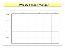 Weekly Lesson Planning Template Digitalhustle Co