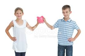 <b>Brother</b> and <b>Sister</b> Holding <b>Piggy</b> Bank Together Stock Photos ...