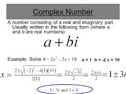 finding complex roots of quadratics 2 complex