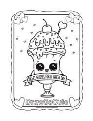 Small Picture coloring page valentine ice cream sundae drawsocute print outs