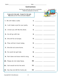 Best 25+ Contraction worksheet ideas on Pinterest | Cut and paste ...