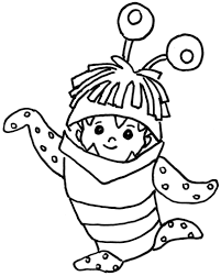 Monster Coloring Sheets Pages Kids Throughout Cute For Free 7