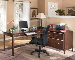 large l shaped office desk. Guide To Choosing Teak Home Office Furniture : Impressive Black Colored Chair Facing Sectional Letter Large L Shaped Desk