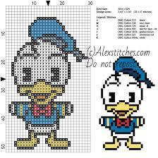 Free Disney Cross Stitch Charts Donald Duck Disney Cuties Free Cross Stitch Pattern 30x52 7