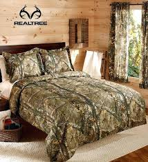 camo bedding set full camouflage boys hunting cabin queen comforter 1 window curtain set bring the camo bedding set full