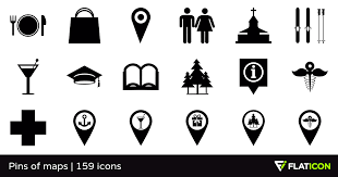 Pins Of Maps 155 Premium Icons Svg Eps Psd Png Files