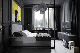 bedroom modern with tv. Masculine Apartment Bedroom Some Plants In The Corner Of Room Modern Tv Wall Unit Long With