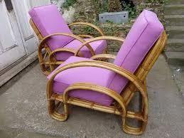 art deco cane chairs rocking