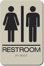 Restroom Signs Men's Women's Unisex Air Delights Adorable Unisex Bathroom Signs