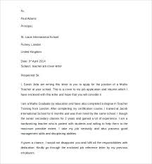Example Teaching Cover Letter Special Education Teacher School Re