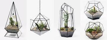 glass terrariums glass planters geometric terrariums faceted terrariums