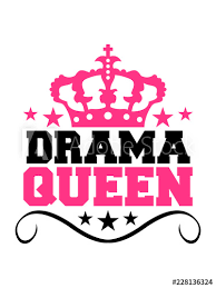 Drama Queen Prinzessin Frau Weiblich Girl Sexy Königin Krone Logo