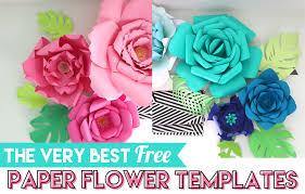 Flowers Templates Best Free Paper Flower Templates Thecraftpatchblog Com
