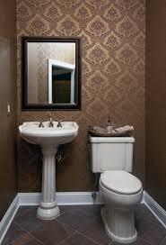 wallpapered powder room americantraditionalpowderroom traditional powder room ideas r37 room