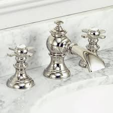modern classic widespread lavatory f2 0013 faucets with pop up drain in polished nickel