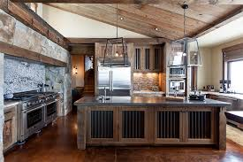mountain home remodel with corrugated metal in kitchen highcamp home