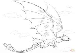 Coloring Pages For Kids Toothless With Toothless Dragon Coloring