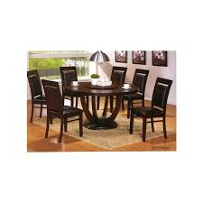 7 pc richmond round espresso wood dining table set