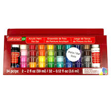 matte acrylic paint pot value pack by craft michaels acrylic paints metallic craft paint michaels