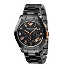 emporio armani watches jewellery fraser hart emporio armani ceramica men s chronograph black bracelet watch