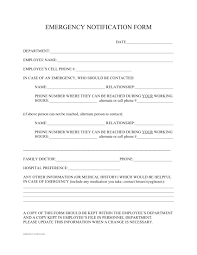 In Case Of Emergency Form For Employees 14 Employee Emergency Notification Forms Free Pdf Format Download