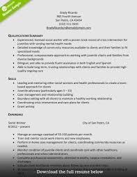 Social Worker Resume Sample Sample Of social Worker Resume Beautiful Frightening Example social 16