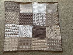 Knit sampler afghan with 12 different squares/stitch patterns ... & Knit sampler afghan with 12 different squares/stitch patterns Adamdwight.com