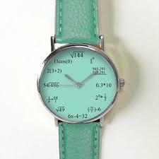 math formula teal watch equation watch vintage style leather watch women watches mens watch uni boyfriend watch
