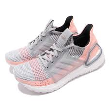Details About Adidas Ultraboost 19 Grey Clear Orange Women Running Shoes Sneakers B75881