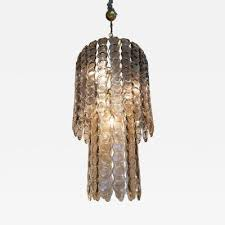 mazzega murano large murano smoked glass chandelier mazzega style mid century modern