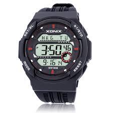 online buy whole mens sport watches waterproof from mens xonix world time men sports watches waterproof 100m digital watch running