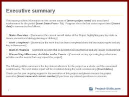 executive summary format for project report 12 project report introduction sample sendletters info