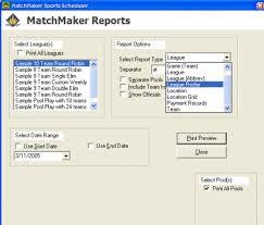 Matchmaker Sports Scheduling Software