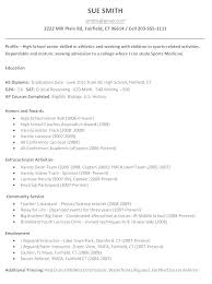 Agreeable College Admission Resume Examples For High School Seniors