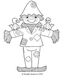 printable scarecrow coloring pages free unique ideas on