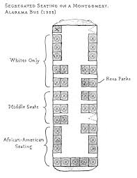 daniel baxter art rosa parks my depiction of the seating chart for the bus rosa parks was arrested on