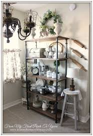 Updated French Farmhouse Breakfast Nook. Kitchen Shelf DecorKitchen ...