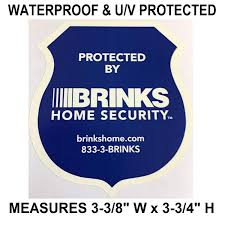 Adt Blue Light Security Amazon Com Brinks Adt Blue Colored Security Sticker Decal