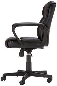Pc Office Chairs Amazoncom Amazonbasics Mid Back Office Chair Black Kitchen