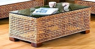 square wicker coffee table square wicker coffee table large round wicker coffee table woven side rattan