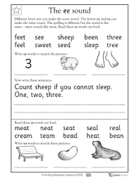 Phonics worksheets what sounds do you hear? Vowel Sound Ee Writing Words Phonics Reading Reading Worksheets