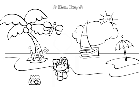 Hours of fun await you by coloring a free drawing best drawings hello kitty beach. Hello Kitty Mermaid Coloring Pages Best Coloring Pages For Kids