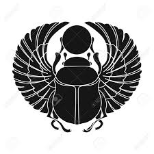 Scarab Icon In Black Style Isolated On White Background. Ancient.. Royalty Free Cliparts, Vectors, And Stock Illustration. Image 69245092.
