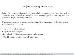 Cover Letters For Secretary Cover Letter Secretary Administrative