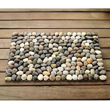 pebble stone bath mat river rock floor rug