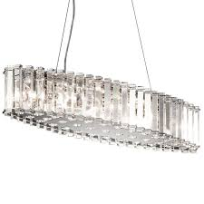 crystal skye linear ceiling light pendant kichler lighting