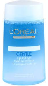 loreal paris gentle lip and eye makeup remover 125 ml