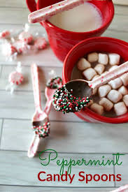 peppermint candy spoons an easy diy gift and treat