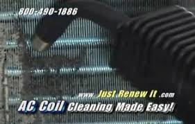 ac coil cleaner. shoot dirt onto your already cleaned sections. that is the process in a nut shell. you can also blast off control panel. just unplug unit before ac coil cleaner r